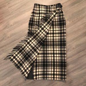 NWT Vintage Eddie Bauer Plaid Wool Gingham Skirt 2
